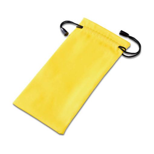 Yellow Polyester Drawstring Shades Pouch