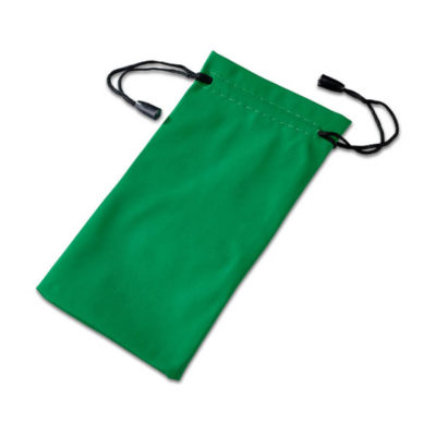 Green Polyester Drawstring Shades Pouch
