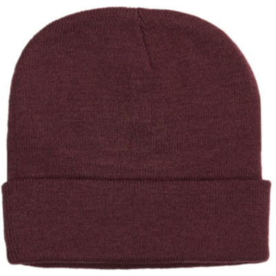 The Aspen Beanie is COLOUR acrylic knitted stretchy beanie with a fold up band