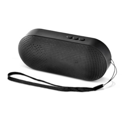 Black Icon Bluetooth Speaker With Handle, USB Slot And TF Card Slot