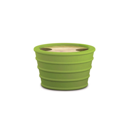 Lime Green Rubber, Wood And Silicone Holder for Topsy-Turvy Snack Bowl