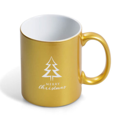 330ml AB Grade Ceramic Gold Astra Laser Ready Mug