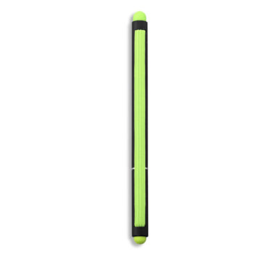 Black Gallery Pen With Lime Green Accents And Lime Green Elastic