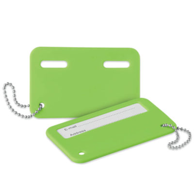 Make sure your luggage will always find it's way back to you with the Lime Green Travel Identity Tag. Available in a range of bright colours.