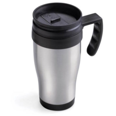 400ml Stainless Steel Thermo Mug in Silver