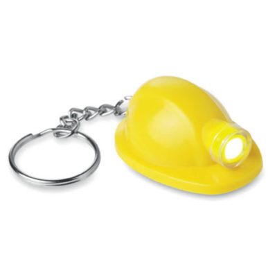 The Yellow Hard Hat Torch Keyring will turn your keychain into an adorable accessory! The cute, little hard hat has an LED light built in for functionality too!