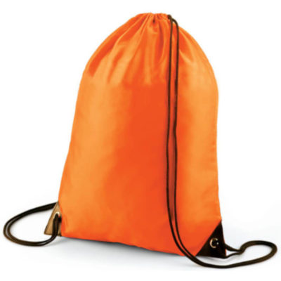 Basic Drawstring Bag in Orange
