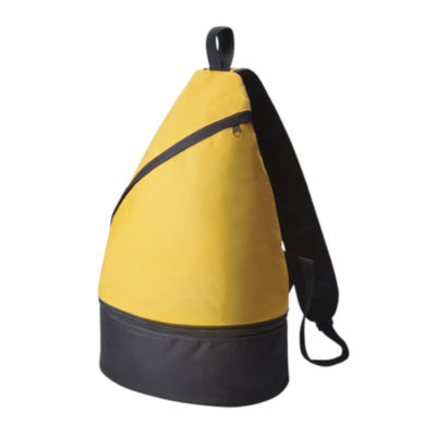 The Yellow uniquely shaped Shoulder Bag Cooler. What you put in will stay as cool as it needs to be. It's also available in three bright and bold colours.