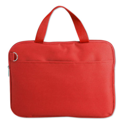 The Document Bag in Red.