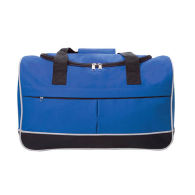 The Blue Compact Sports Bag Is Made From 600D.