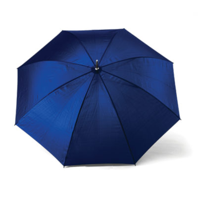 The Royal Blue 8 Panel Golf Umbrella Is Made From Nylon With A Black Firm Plastic Handle.