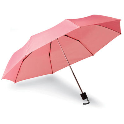The 8 Panel Baton Umbrella is a pink 210 Denier fabric 8-panel umbrella with a matching colour carry pouch.