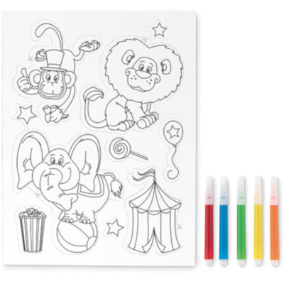 The Magnet Colour is a sticker set with five markers for colouring. Let your kids fill the pages and keep the pages on the fridge as a special reminder!