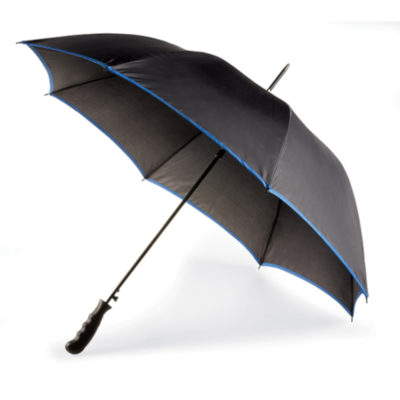 Keep dry this winter with the incredibly stylish Royal Blue 8 Panel Contrasting Edge Umbrella! It includes a sturdy metal shaft with 8 panels.