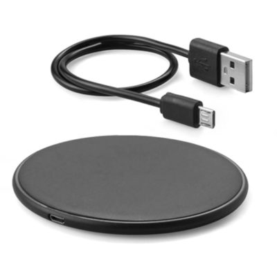 Skip fumbling with charger cables and use the Navigator Wireless Charger! This easy-to-use charger is packaged in a white box with a USB cable.