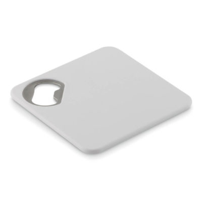 Open that bottle and have a coaster to rest it on with the handy and multi-functional Zing Coaster & Bottle Opener. Brand it and hand it out at bar events!