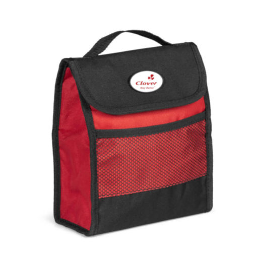 Red Foldz Lunch Cooler That Can Fold Flat For Easy Handling