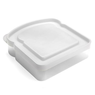 The White Cool Lunch Box is a cute, sandwich-shaped lunch box for that will fit comfortably in a bag, making it perfect as a giveaway gift at school events.