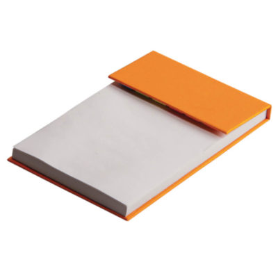 The Orange Handy Memo with Sticky Notes is a comprehensive desk item. As a quirky and useful corporate gift, it is perfect for the office.
