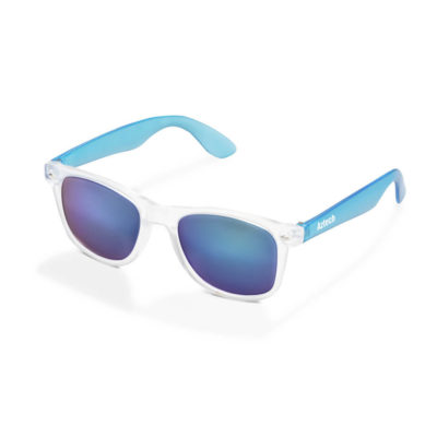 Waikiki Sunglasses With UV500 Blue Mirrored Lenses And Blue Ear Frames