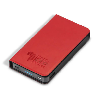 Spector Brite 6000mAh Power Bank With Red PU Cover