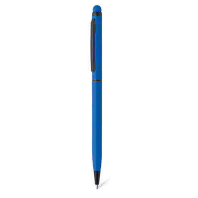 Switch between writing on paper and your tablet or phone easily with the Royal Blue Twist Stylus Pen - a metal pen that writes in black ink.