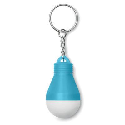 Light Bulb Keyring - Turquoise
