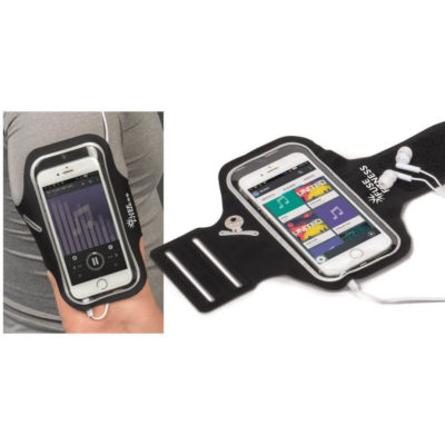 Black Front Runner Arm Pouch For Cellphone With Key Pouch