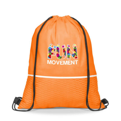 80gsm Non-Woven Orange Brighton Drawstring Bag