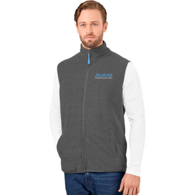 The Mens Oslo Fleece Bodywarmer is charcoal 260g/m2 100% polyester, bonded micro fleece with two side welt pockets. Standard fitting.