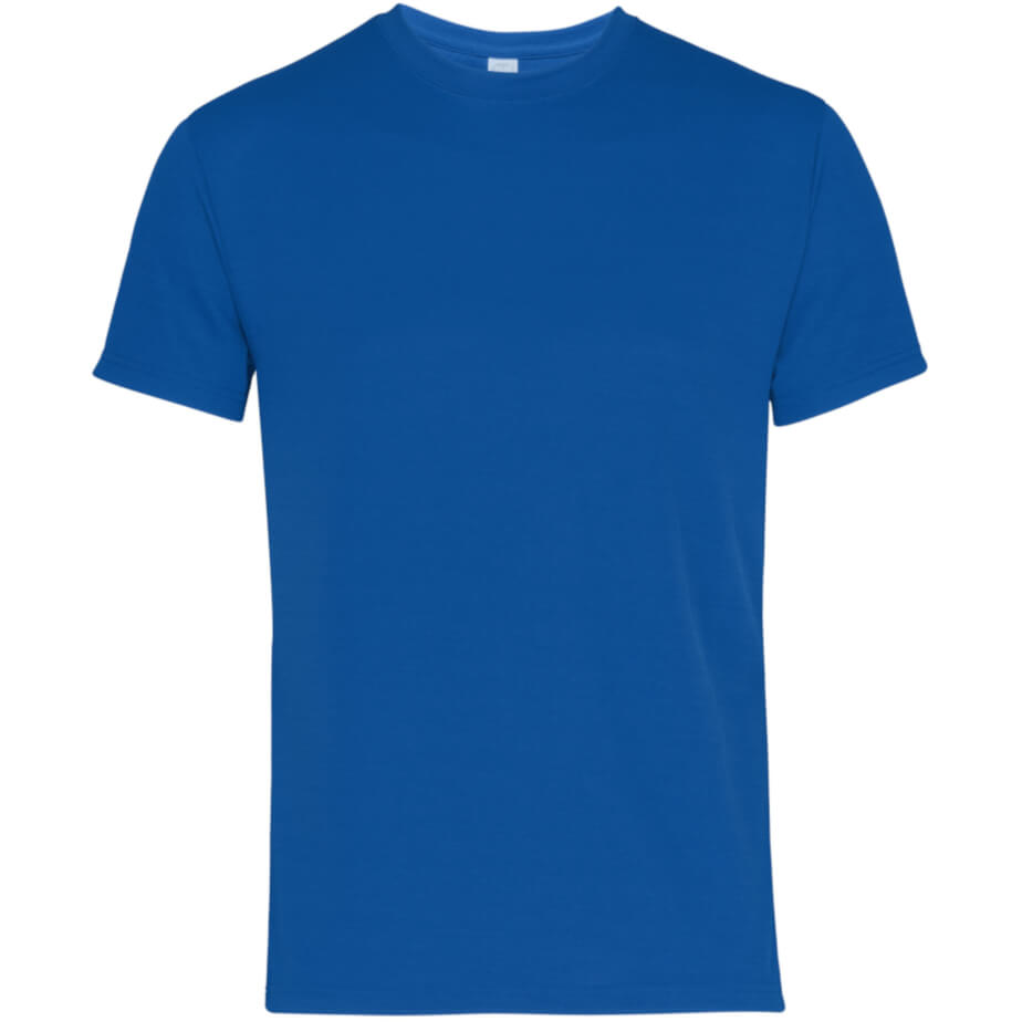 AAICO Men Blue Plain T-Shirt