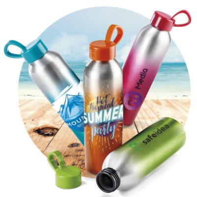 650ml Aluminium Islande Drink Bottle With Colour Gradient