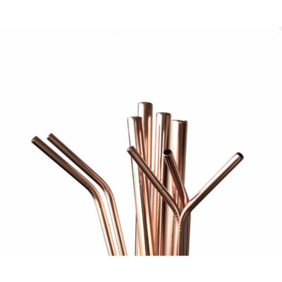 Rose Gold Steel Straws