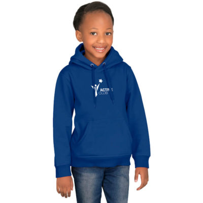 The Kids Essential Hooded Sweater is made from superior filament brushed fleece fabric with a standard fitting.