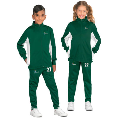 The Kids Championship Tracksuit comes in multiple colours and sizes for men, woman and kids. With a standard fit, made from 200g/m2, 100% polyester sport knit.