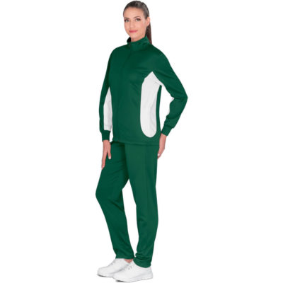 The Ladies Championship Tracksuit comes in multiple colours and sizes for men, woman and kids. With a standard fit, made from 200g/m2, 100% polyester sport knit.