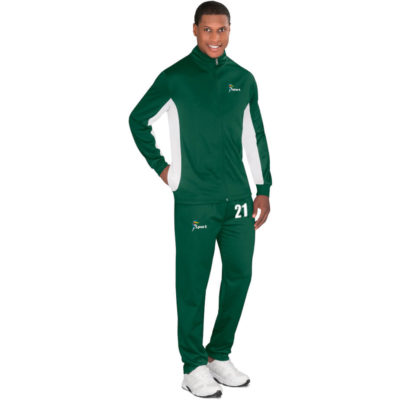 The Mens Championship Tracksuit comes in multiple colours and sizes for men, woman and kids. With a standard fit, made from 200g/m2, 100% polyester sport knit.