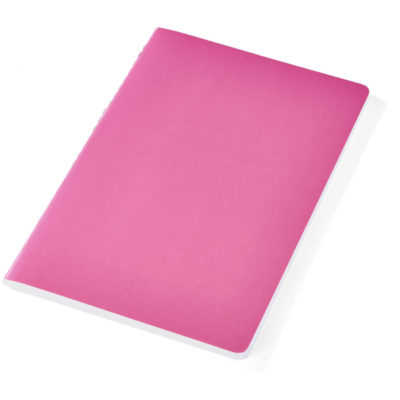 The Kato A5 Jotter pink is made from cardboard paper and contains 80 lined sheets of paper