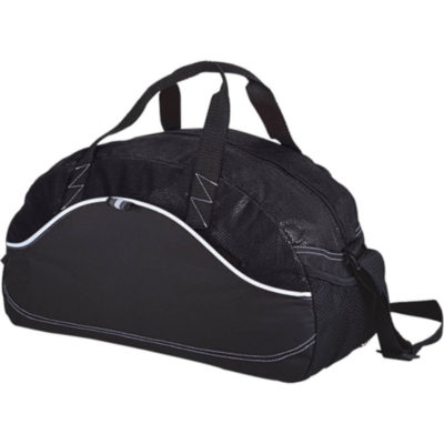 The Dual Material Duffel Bag - 600D - Non-Woven in Black.