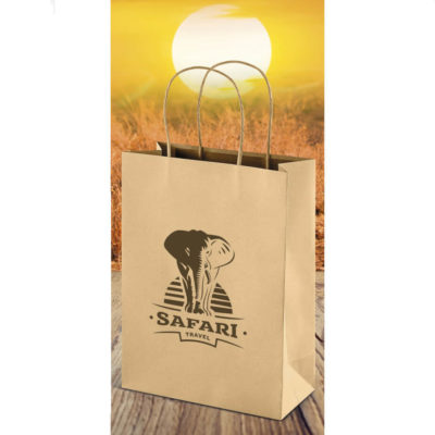 The Memento Ecological Midi Gift Bag is a material kraft paper bag with a twist paper cord. Medium size