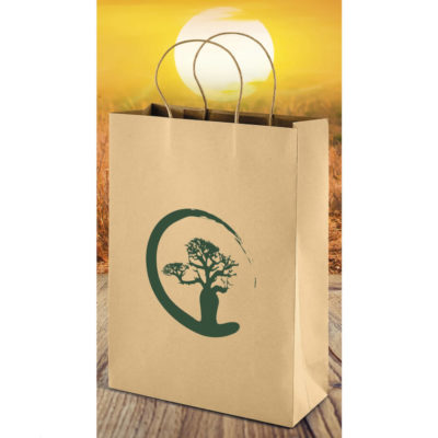 The Memento Ecological Maxi Gift Bag is a material kraft paper bag with a twist paper cord. Large size