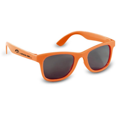 The Stylo Kiddies Sunglasses are plastic orange framed sunglasses
