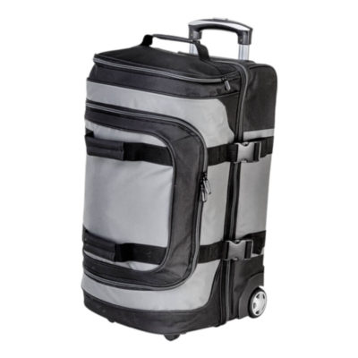 The Dual Strap Double Decker Trolley Bag has plenty of space for all of your travel essentials to be stored inside.