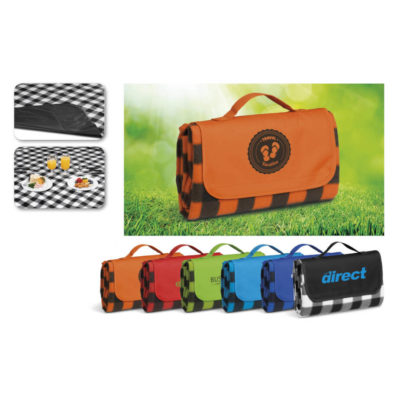 Fleece Everglades Picnic Blanket With Watertight Undelining And Carry Handle