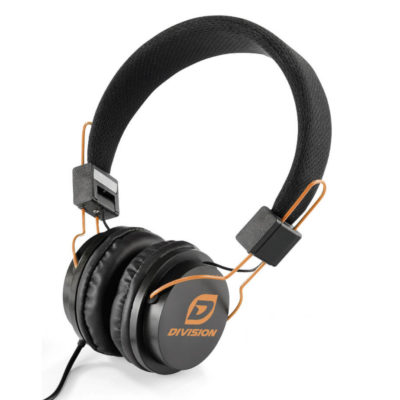 Black With Orange Accents Aztec Wired Headphones