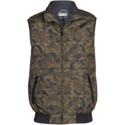 The Mens Colorado Bodywarmer is 100% polyester outer and inner camouflage bodywarmer. Elasticated armhole, ribbed detail on hem, slanted zip pockets with inner zip for embroidery access. Stitching detail.