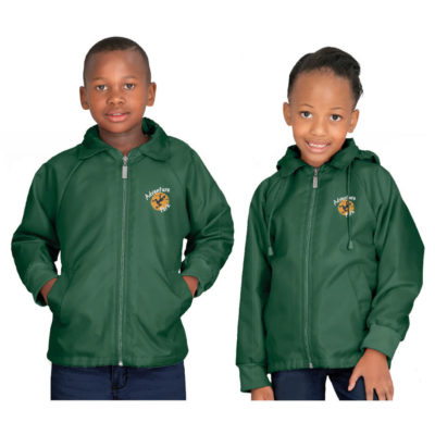The Kids Alti-Mac Terry Jacket is made from 100% oxford nylon outer, 55% cotton and 45% polyester. Available in different colours and sizes.