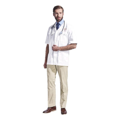 Unisex White All-Purpose Short Sleeve Lab Coat