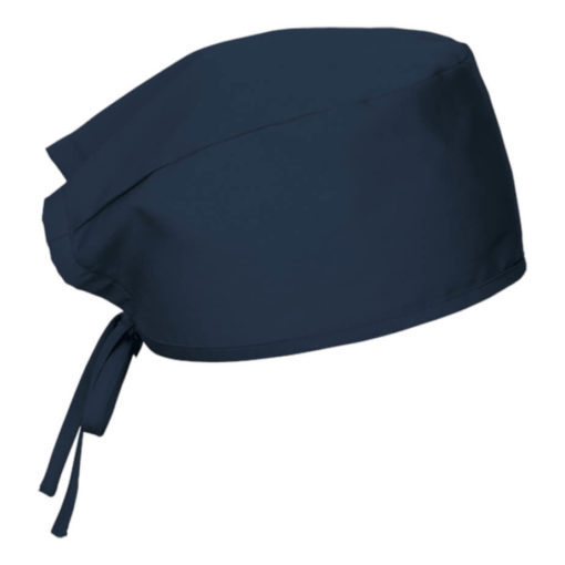 Navy One-Size-Fits-All Theatre Cap with Self-Fabric Ties