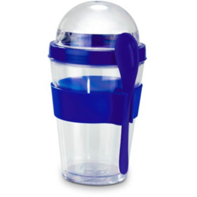 The Yo-On-The-Go Breakfast Cup allows for you to avoid skipping breakfast.